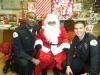 Oficiales de Oceanside Police con Santa